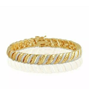 "New Genuine 1.25ctw Diamond Tennis Bracelet 7.5""!"